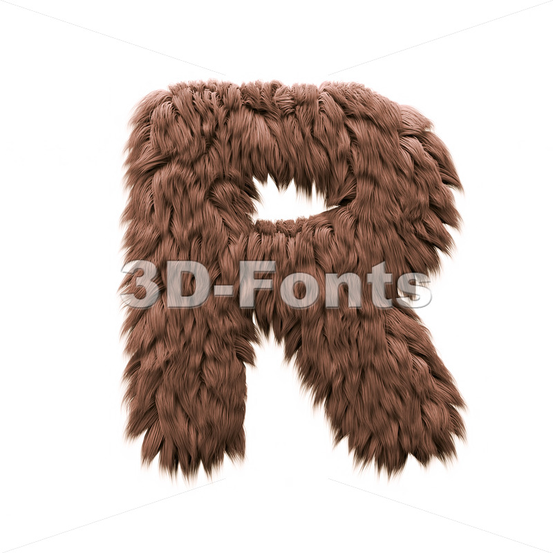 bigfoot letter R - Uppercase 3d font - 3d-fonts