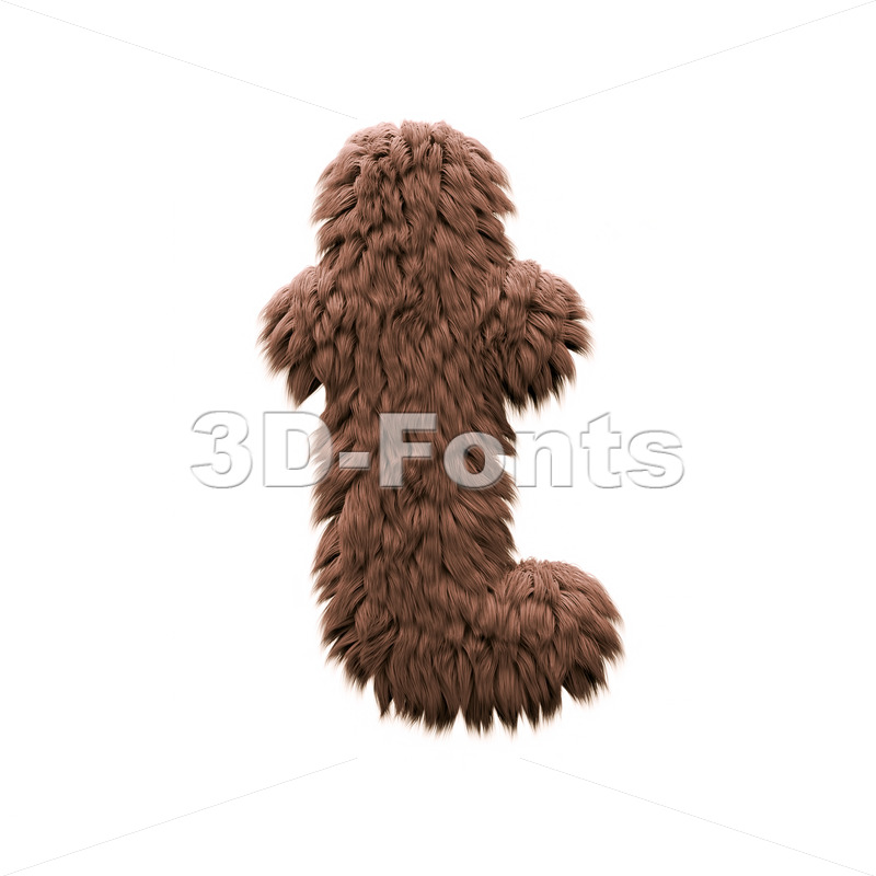 bigfoot letter T - Lower-case 3d font - 3d-fonts