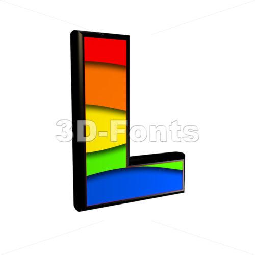 multicolored 3d font L - Capital 3d character - 3d-fonts