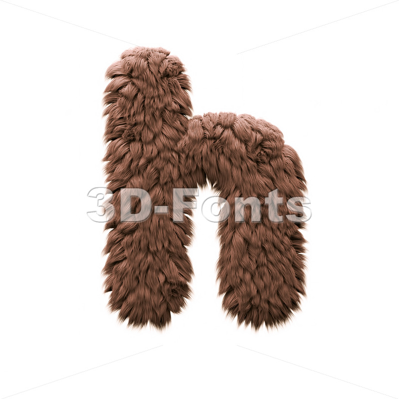 sasquatch font H - Lower-case 3d letter - 3d-fonts