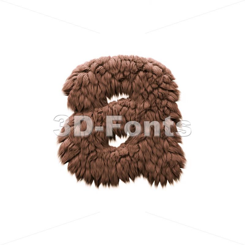 yeti font A - Lowercase 3d letter - 3d-fonts