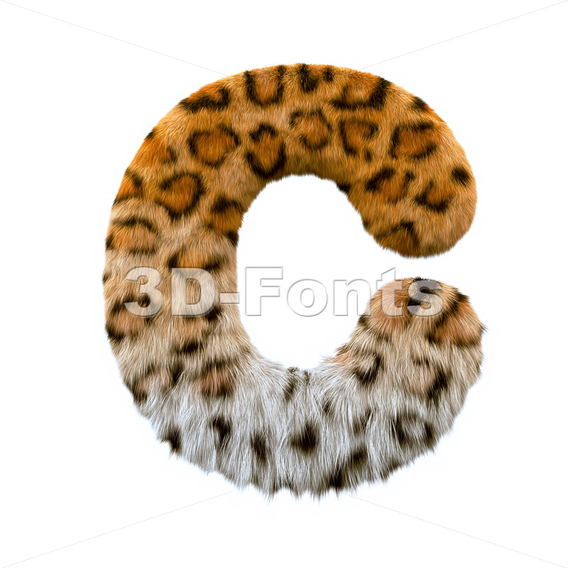 3d jaguar font C - Capital 3d letter - 3d-fonts