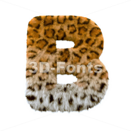Capital panther letter B - Upper-case 3d font - 3d-fonts