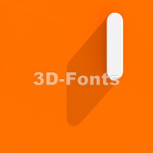 Uppercase web design font I - Capital 3d letter - 3d-fonts