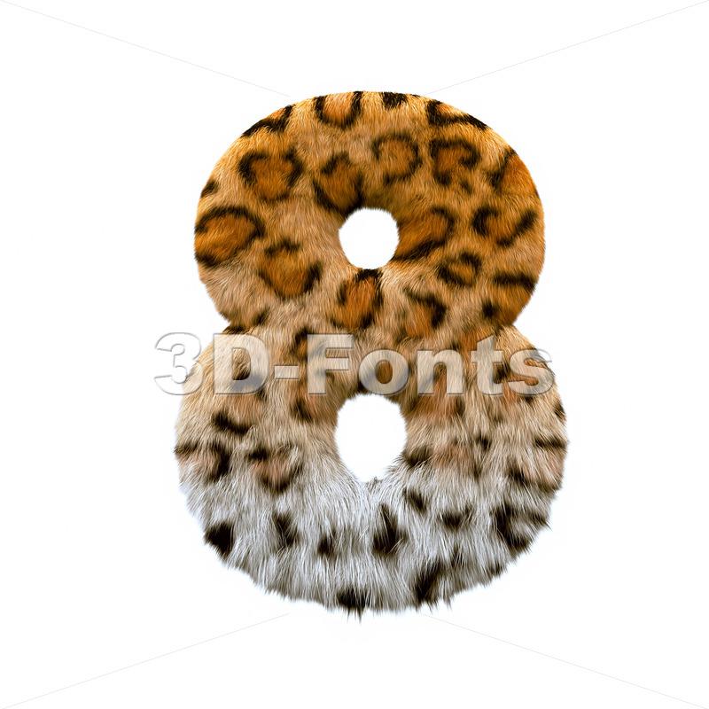 jaguar digit 8 - 3d number - 3d-fonts