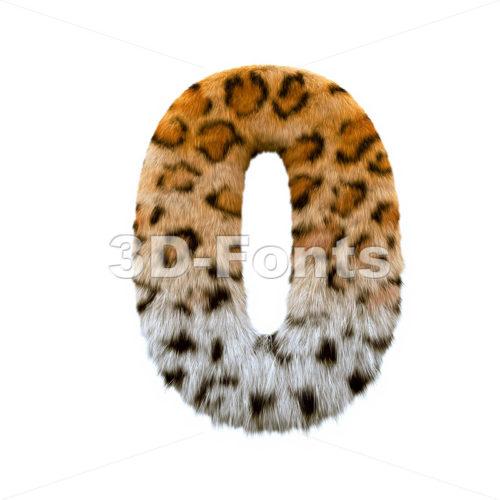 jaguar number 0 - 3d digit - 3d-fonts