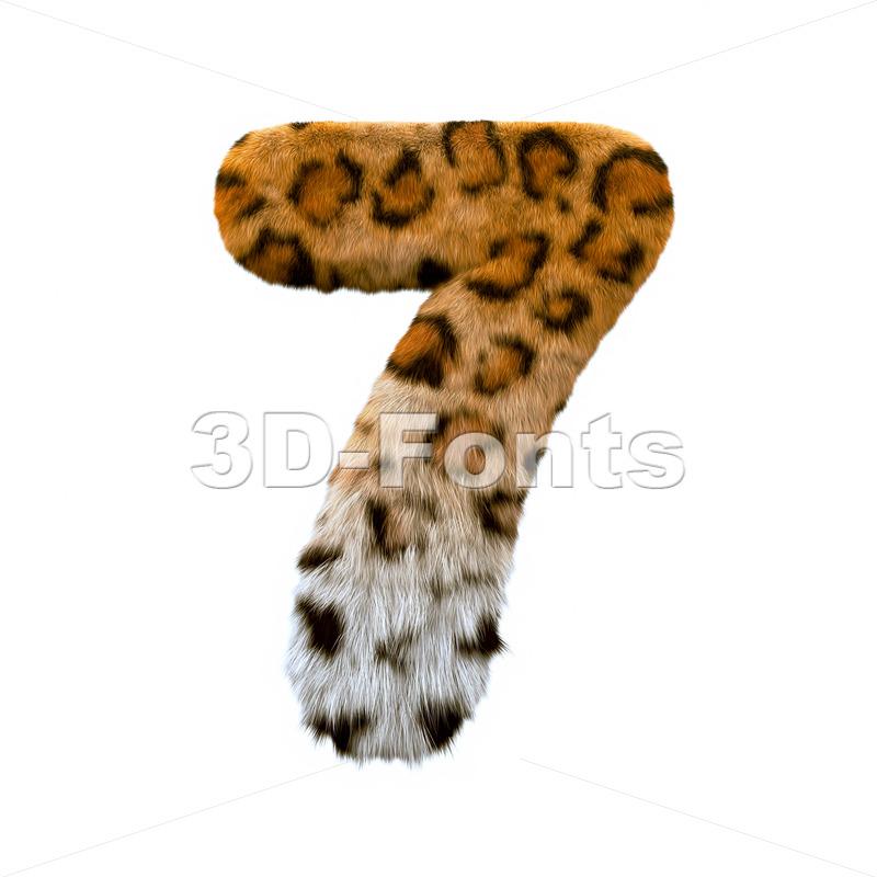 jaguar number 7 - 3d digit - 3d-fonts