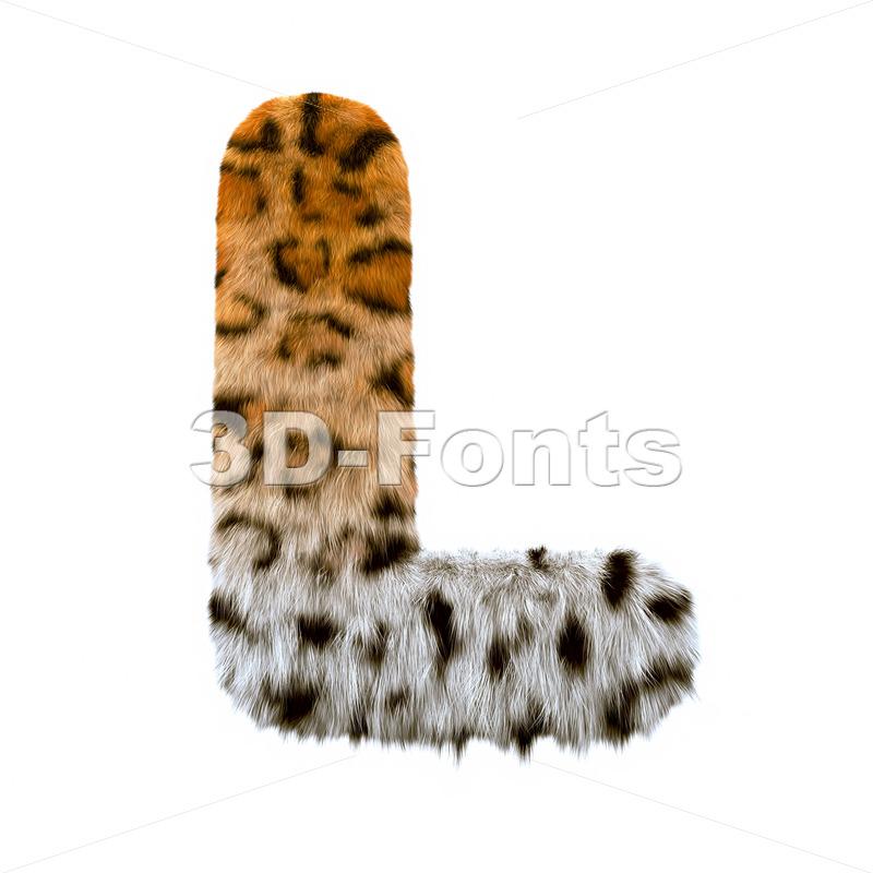 leopard 3d font L - Capital 3d character - 3d-fonts