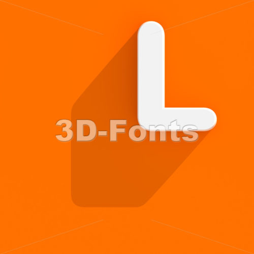 web design 3d font L - Capital 3d character - 3d-fonts