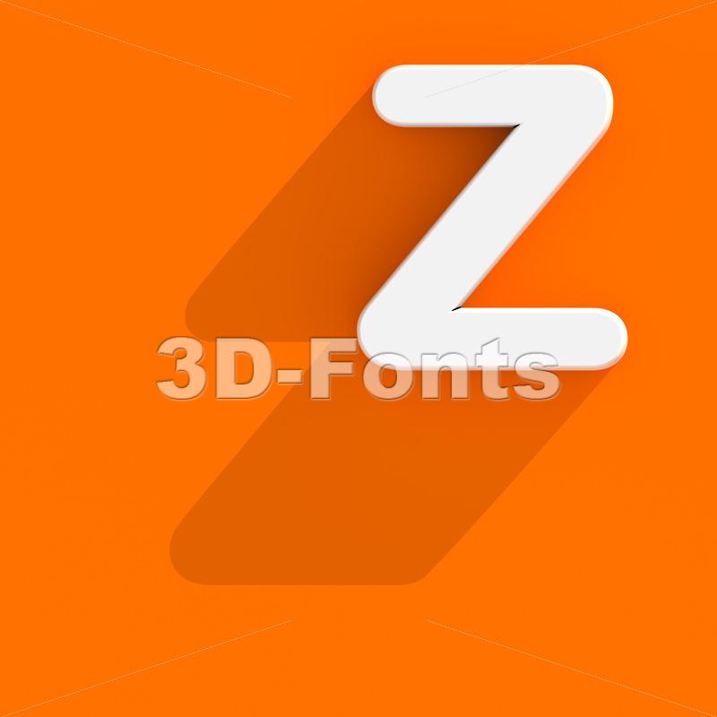 web design letter Z - Upper-case 3d font - 3d-fonts
