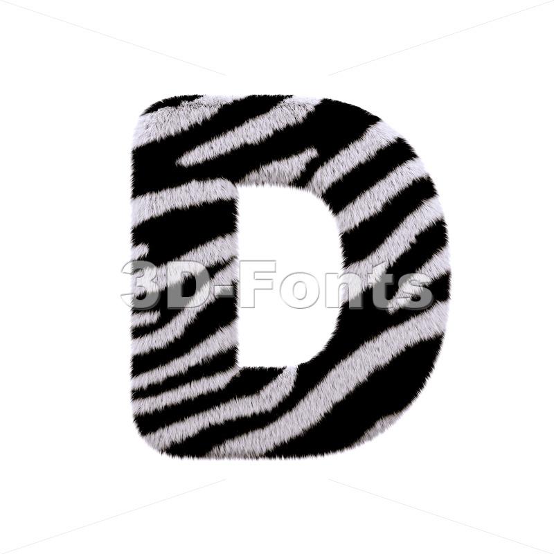 zebra font D - Capital 3d character - 3d-fonts