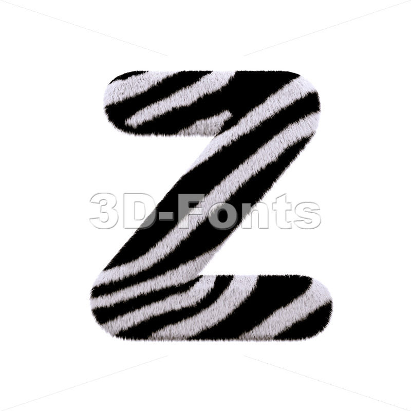 zebra letter Z - Upper-case 3d font - 3D Fonts Collections | Top Quality Letters, Numbers and Symbols !