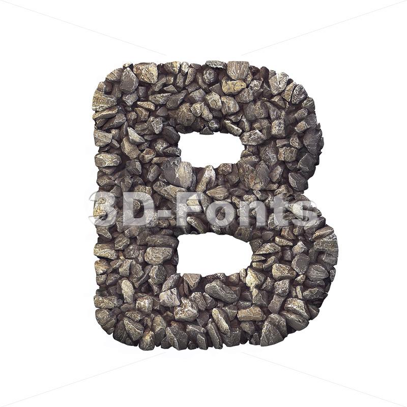 Capital rock letter B - Upper-case 3d font - 3d-fonts