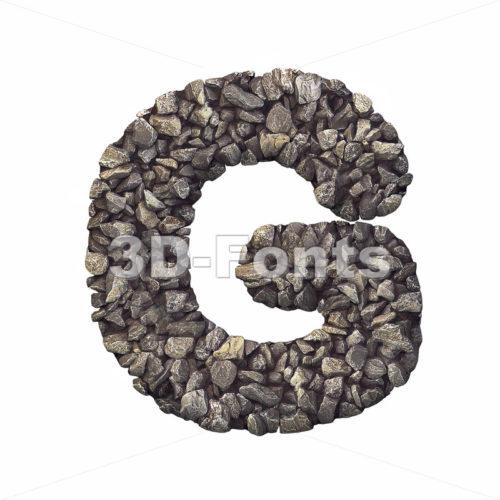Upper-case stone character G - Capital 3d font - 3d-fonts
