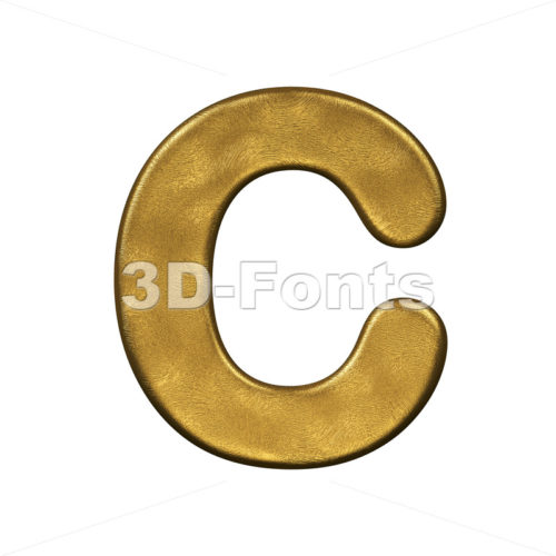3d golden font C - Capital 3d letter - 3d-fonts