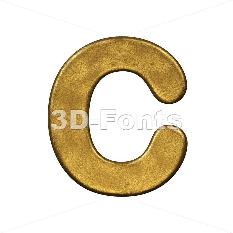 3d golden font C - Capital 3d letter - 3d-fonts.com