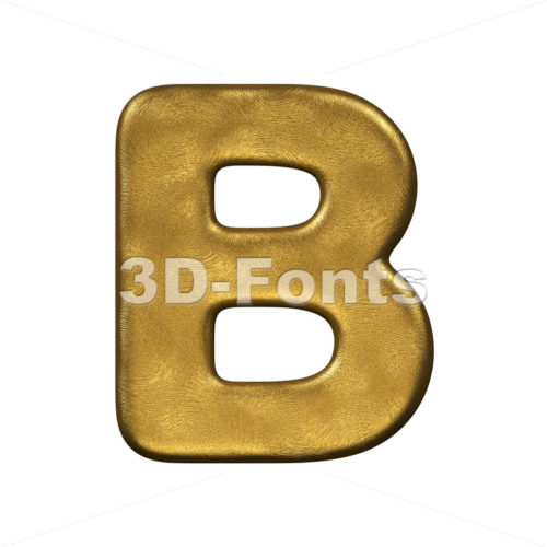 Capital gold foil letter B - Upper-case 3d font - 3d-fonts
