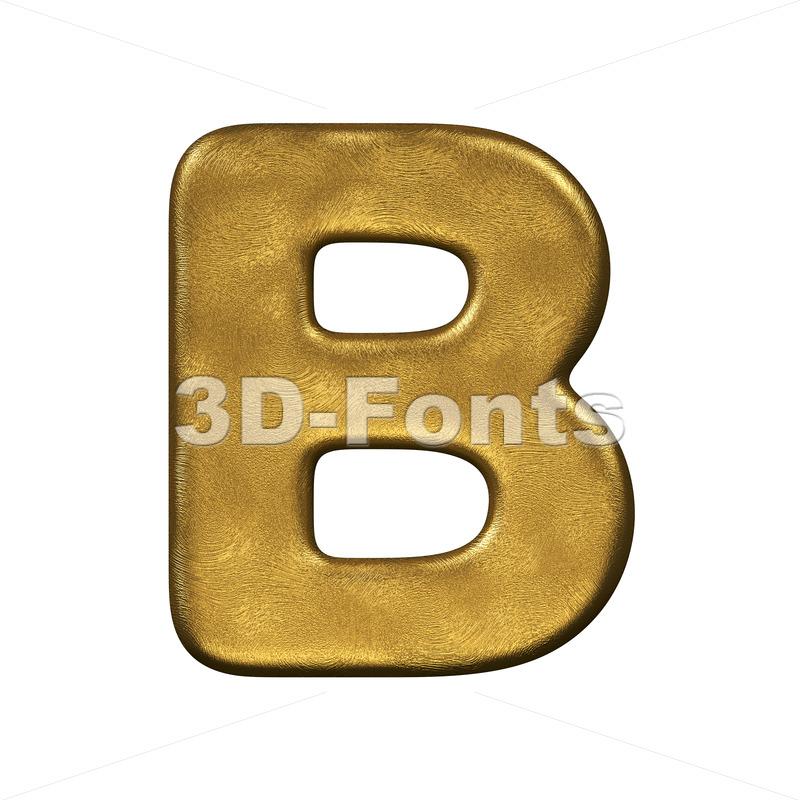 Capital gold foil letter B - Upper-case 3d font - 3d-fonts.com
