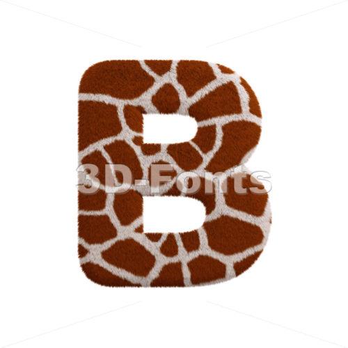 Capital safari letter B - Upper-case 3d font - 3d-fonts