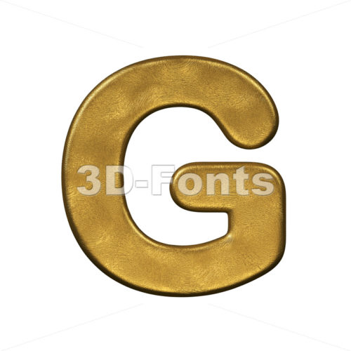 Upper-case golden character G - Capital 3d font - 3d-fonts