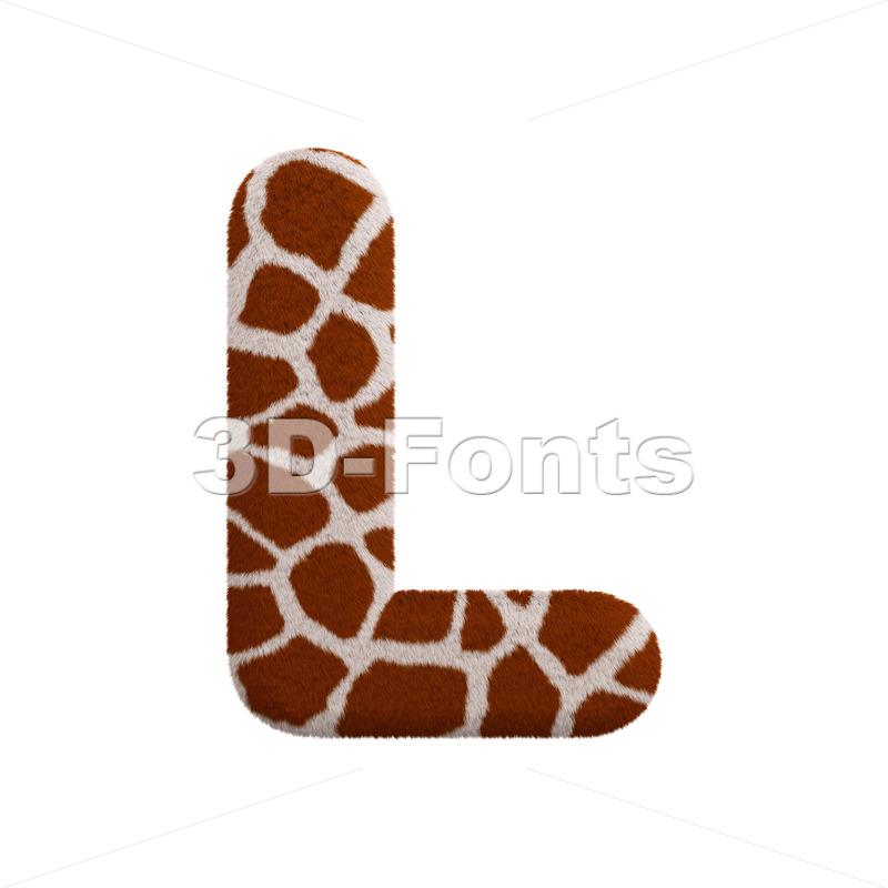 giraffe 3d font L - Capital 3d character - 3d-fonts