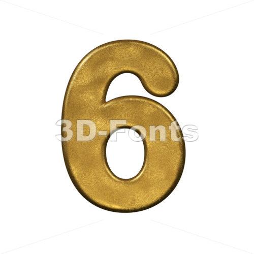 gold digit 6 - 3d number - 3d-fonts