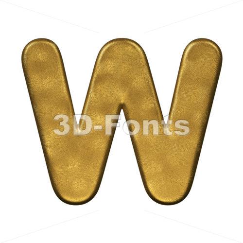 gold foil font W - Capital 3d letter - 3d-fonts