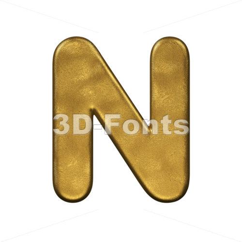 gold foiled font N - Capital 3d letter - 3d-fonts