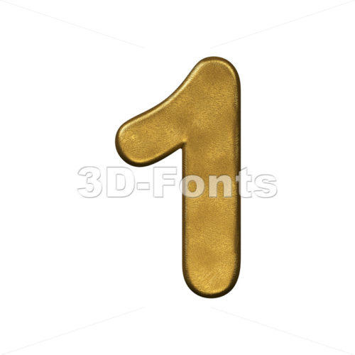gold number 1 - 3d digit - 3d-fonts