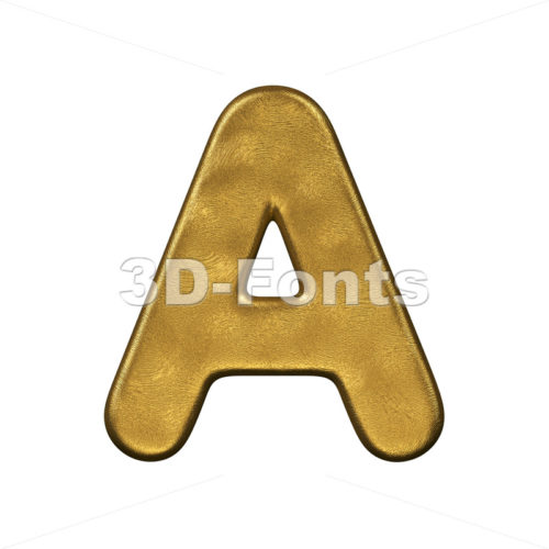 golden letter A - Capital 3d character - 3d-fonts