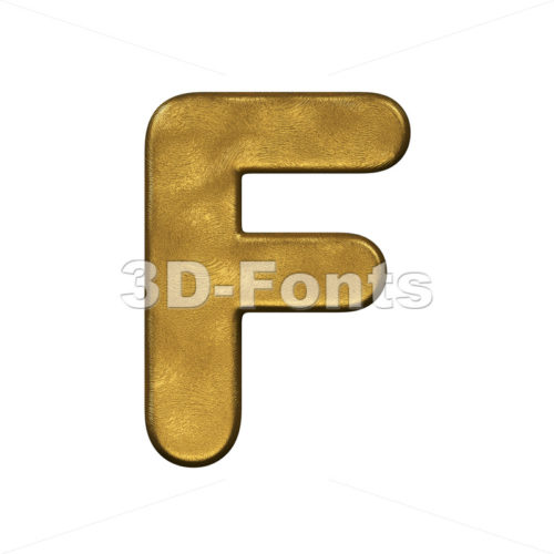golden letter F - Upper-case 3d font - 3d-fonts