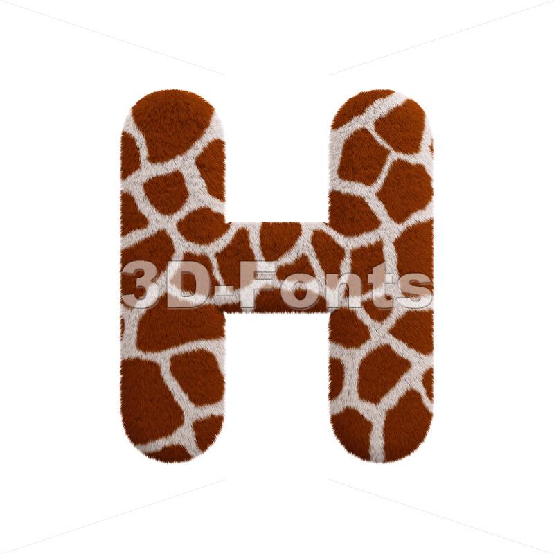 safari 3d letter H - Upper-case 3d character - 3d-fonts