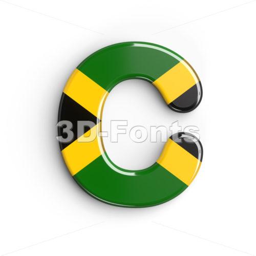 3d jamaica flag font C - Capital 3d letter - 3d-fonts