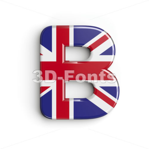 Capital british letter B - Upper-case 3d font - 3d-fonts