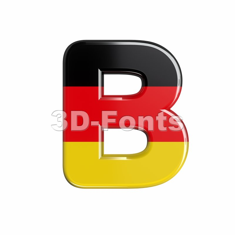 Capital german letter B - Upper-case 3d font - 3d-fonts