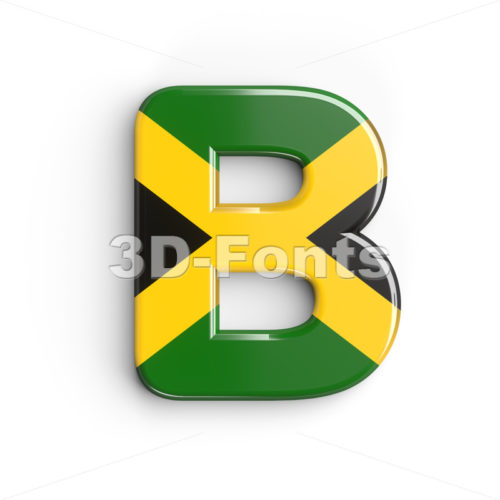 Capital jamaica letter B - Upper-case 3d font - 3d-fonts