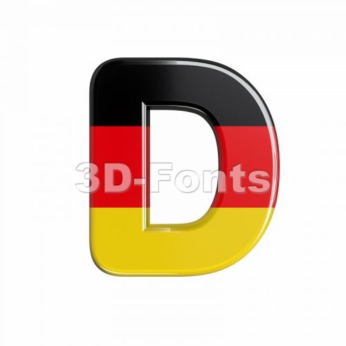 Germany font D - Capital 3d character - 3d-fonts