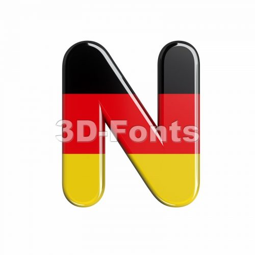 Germany font N - Capital 3d letter - 3d-fonts