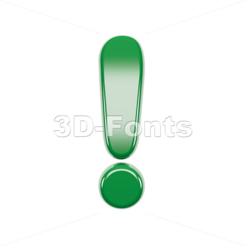 Italian flag exclamation point - 3d symbol - 3d-fonts