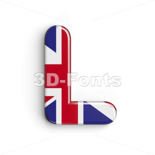 Union 3d font L - Capital 3d character - 3d-fonts