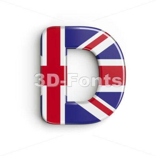 Union font D - Capital 3d character - 3d-fonts