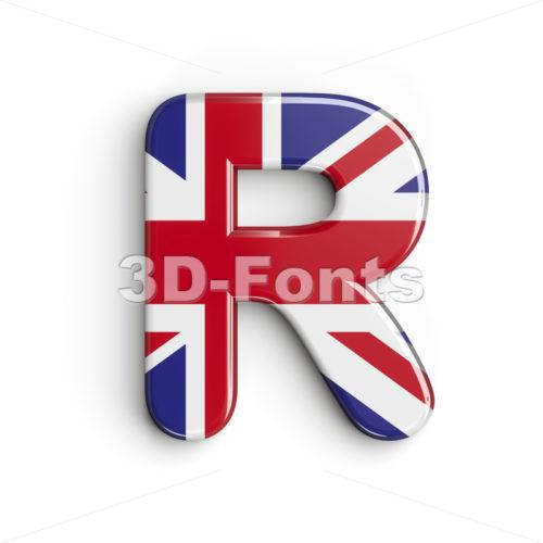 Union letter R - Uppercase 3d font - 3d-fonts