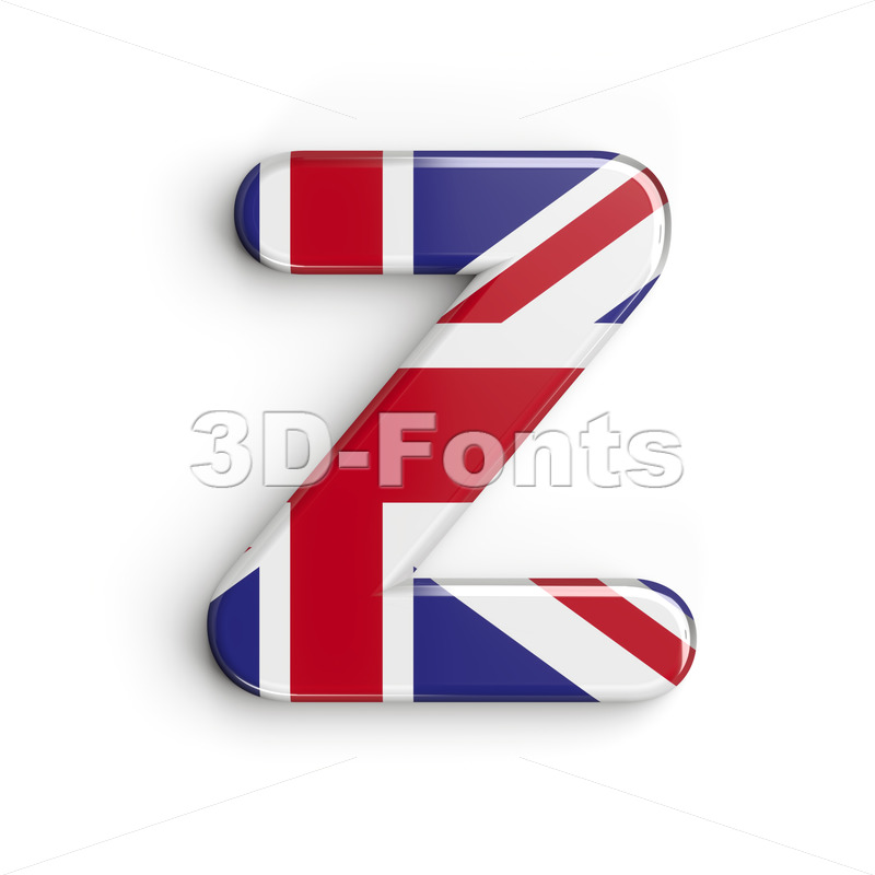 Union letter Z - Upper-case 3d font - 3d-fonts