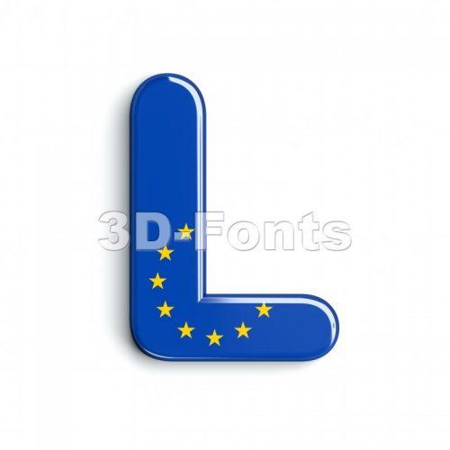 european 3d font L - Capital 3d character - 3d-fonts