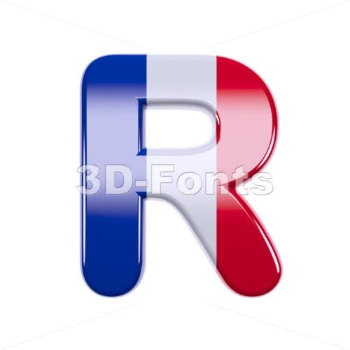 french letter R - Uppercase 3d font - 3d-fonts