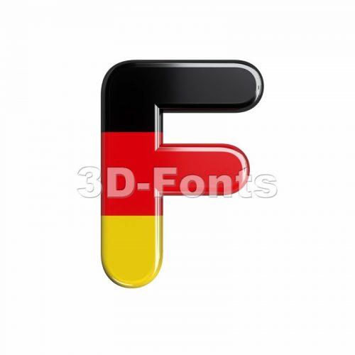 german flag letter F - Upper-case 3d font - 3d-fonts