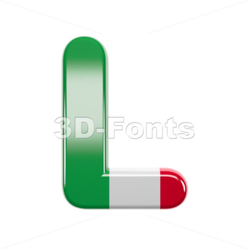 italian 3d font L - Capital 3d character - 3d-fonts