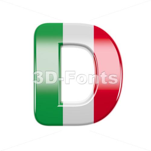 italian font D - Capital 3d character - 3d-fonts