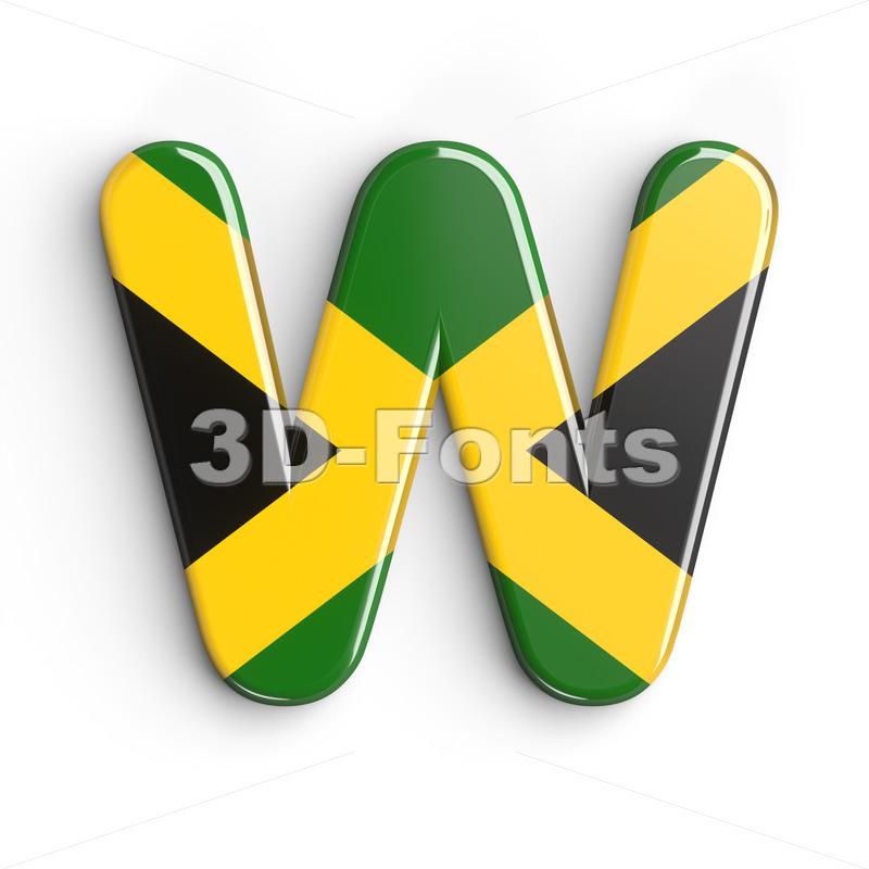 jamaica font W - Capital 3d letter - 3d-fonts