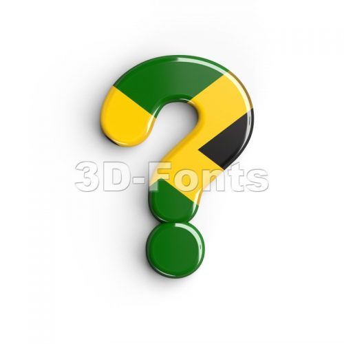 jamaica interrogation point - 3d sign - 3d-fonts